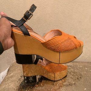 Robert Clergerie Shoes - Robert Clergerie  Platform Shoes Leather Sandals